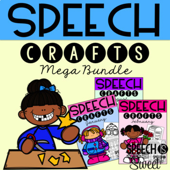 Speech Therapy Crafts for the YEAR! {A Growing Bundle}