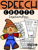 September: Speech Therapy Crafts