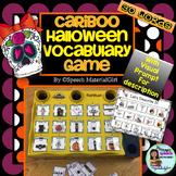Speech Therapy Cranium Cariboo Halloween Vocabulary game activity