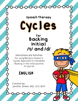 Speech Therapy Cycles for Backing Initial /T/ & /D/