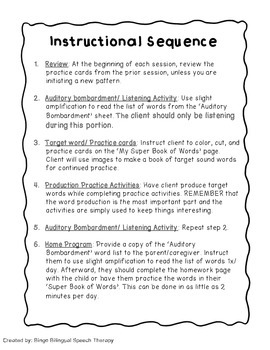 Speech Therapy Cycles for Fronting /K/