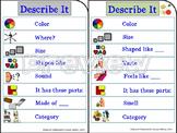 Speech Therapy DESCRIBE IT Visual prompt for attributes de