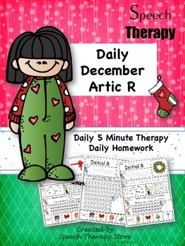 Speech Therapy Daily Articulation R December
