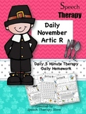 Speech Therapy Daily Articulation R November