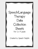 [Freebie] Speech Therapy Data Collection Labels