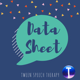 Speech Therapy Data Sheet