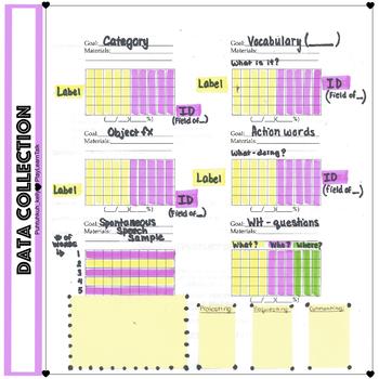 Speech Therapy Data Sheet Freebie