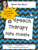 Speech Therapy Data Sheets