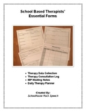 Speech Therapy Data Tracking, Consultation Logs, Meeting Notes and Daily Planner