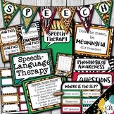 Speech Therapy Decor: Animal Print Speech Room Decor made