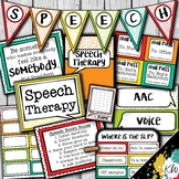 Speech Therapy Decor: Bright Confetti Speech Room Decor ma