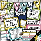 Speech Therapy Decor: Bright Stripes Speech Room Decor made just for SLPs!
