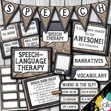 Speech Therapy Decor: Burlap, Lace, & Chalkboard Speech Ro