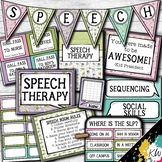 Speech Therapy Decor: Cactus (Succulent) Speech Room Decor made just for SLPs!