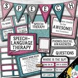 Speech Therapy Decor: Glitter Speech Room Decor made just for SLPs!