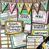 Speech Therapy Decor: Hawaiian Speech Room Decor made just for SLPs!