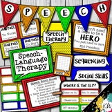 Speech Therapy Decor: Lego® Inspired Speech Room Decor made just for SLPs!