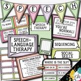Speech Therapy Decor: Pastel Chevron Speech Room Decor made just for SLPs!