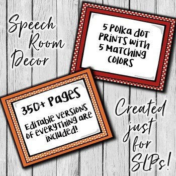 Speech Therapy Decor: Polka Dot Speech Room Decor made just for SLPs!