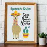 Speech Therapy Decor Poster- Save the Drama