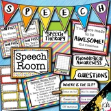 Speech Therapy Decor: Rainbow Speech Room Decor made just for SLPs!