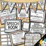 Speech Therapy Decor: Shabby Chic (Shiplap & Floral) Speec