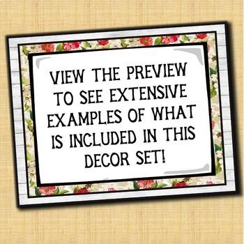 Speech Therapy Decor: Shabby Chic (Shiplap & Floral) Speech Room Decor