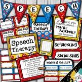 Speech Therapy Decor: Superhero Speech Room Decor made jus