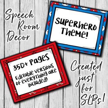 Speech Therapy Decor: Superhero Speech Room Decor made just for SLPs!