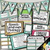 Speech Therapy Decor: Tropical Sea Speech Room Decor made just for SLPs!