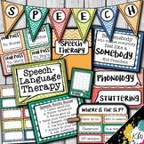 Speech Therapy Decor: Watercolor Chevron Speech Room Decor
