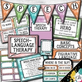 Speech Therapy Decor: Watercolor Speech Room Decor made just for SLPs!