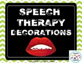 Speech Therapy Decorations (Colorful)