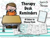 Speech Therapy Desk Reminders