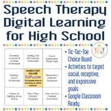Speech Therapy Digital Learning Resource for High School Students