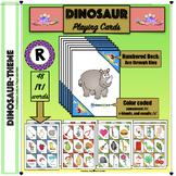 Speech Therapy: Dinosaur /r/ playing cards
