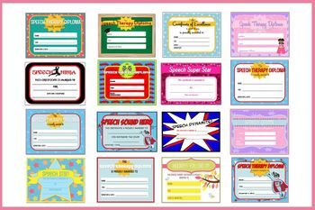 Speech Therapy Diplomas and Certificates