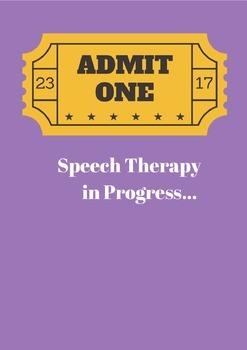Speech Therapy Door Sign
