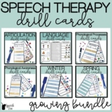 Speech Therapy Activities: Drill Cards Growing Bundle