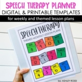 Speech Therapy Planner | Lesson Plan Themed Templates