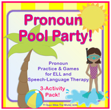 Speech Therapy - ELL - Pronouns Pool Party