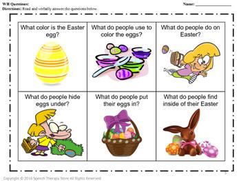Speech Therapy Easter 2 Bundle: Language, Articulation, & Social Pragmatics
