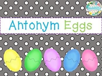 Speech Therapy: Easter Antonym Eggs!