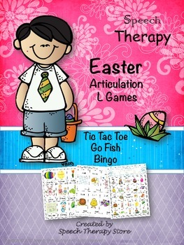 Speech Therapy Easter Articulation L Games