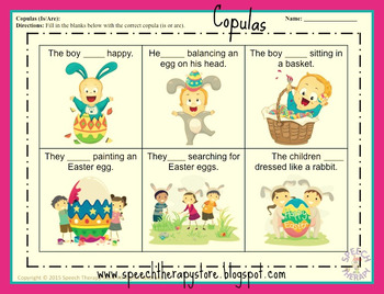 Speech Therapy Easter Language Bundle