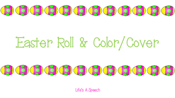 Speech Therapy: Easter Roll & Color/Cover