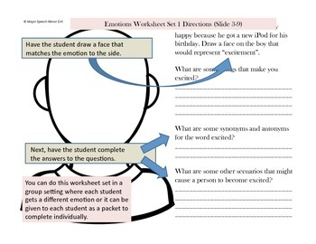 Speech Therapy: Emotions and Social Learning Packet