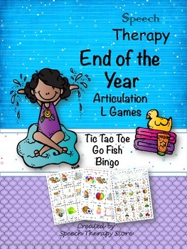 Speech Therapy End of the Year Articulation L Games
