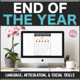 Speech Therapy End of the Year: Language, Articulation, & Social Skills