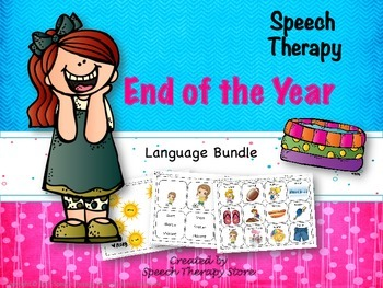 Speech Therapy End of the Year Language Bundle